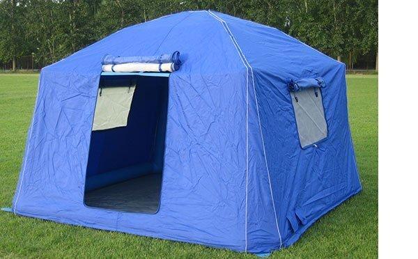 5平米藏蓝色户外充气帐篷