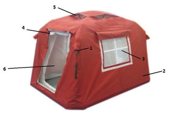 3㎡迷彩充气帐篷2